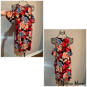 Like New Loft Cold Shoulder Short Dress